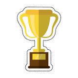 Cartoon trophy award sport icon Royalty Free Stock Photos