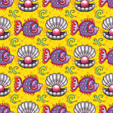 Cartoon tropical coral backgrounds Stock Photography