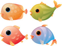 Cartoon tropical fishes Royalty Free Stock Photography