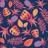 Cartoon tropical pattern Royalty Free Stock Photos