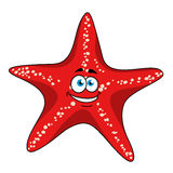 Cartoon tropical red starfish character Royalty Free Stock Photography
