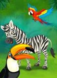 Cartoon tropical or safari - illustration for the children Royalty Free Stock Photos