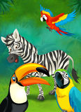 Cartoon tropical or safari - illustration for the children Stock Photo