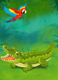 Cartoon tropical or safari - illustration for the children Royalty Free Stock Photo
