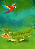Cartoon tropical or safari - illustration for the children Royalty Free Stock Photo