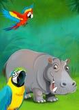 Cartoon tropical or safari - illustration for the children Stock Images