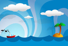 Cartoon tropics Royalty Free Stock Photography