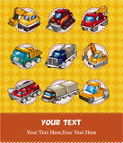 Cartoon truck card Royalty Free Stock Photo