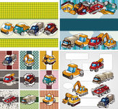 Cartoon truck card Royalty Free Stock Photography