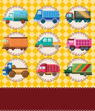 Cartoon truck card Stock Photo