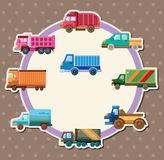 Cartoon truck card Stock Photos