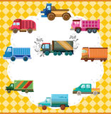 Cartoon truck card Royalty Free Stock Image