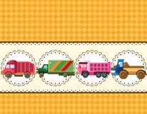 Cartoon truck card Stock Photography