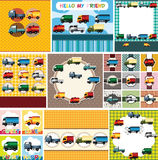 Cartoon truck card Royalty Free Stock Photos