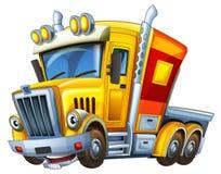 Cartoon truck - caricature - illustration for the children Stock Photos