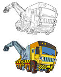 Cartoon truck - coloring page Stock Images