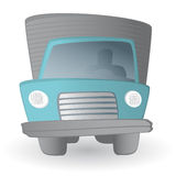 Cartoon truck driver / Land transportation vehicle Royalty Free Stock Images