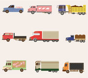 Cartoon truck icon. Vector drawing Royalty Free Stock Photography