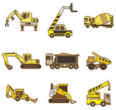 Cartoon Truck icon. Vector drawing Royalty Free Stock Photo