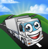Cartoon Truck Lorry Mascot Character scene Stock Image