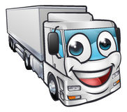 Cartoon Truck Lorry Transport Mascot Character Royalty Free Stock Images