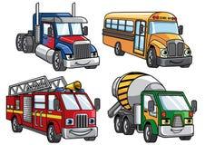 Cartoon truck set. Vector of cartoon truck set Royalty Free Stock Photo