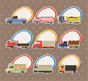 Cartoon Truck Stickers Stock Images