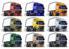 Cartoon trucks set Royalty Free Stock Image