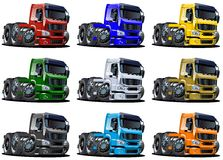 Cartoon trucks set Royalty Free Stock Photo