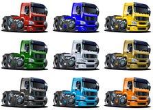 Cartoon trucks set Royalty Free Stock Photo