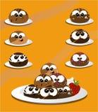 Cartoon truffles Stock Photos