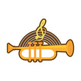 cartoon trumpet instrument music wind Stock Image