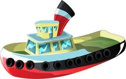 Cartoon tug boat. Tug boat in cartoon style as a  illustration Royalty Free Stock Photo