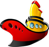 Cartoon tugboat Royalty Free Stock Photo
