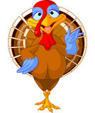 Cartoon turkey Stock Image