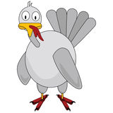 Cartoon turkey Royalty Free Stock Image