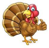 Cartoon Turkey Bird Giving Thumbs Up Stock Images