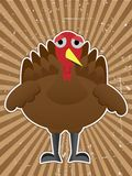 Cartoon Turkey Bird Outline grungy raybeam Stock Photography