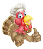 Cartoon Turkey in Chef Hat Royalty Free Stock Photo