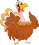 Cartoon turkey giving thumb up Stock Photo