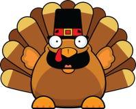 Cartoon Turkey Happy With Pilgrims Hat Royalty Free Stock Photo