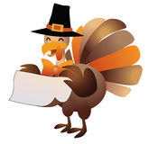 Cartoon turkey with message space Royalty Free Stock Images