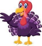 Cartoon turkey presenting Stock Images