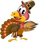 Cartoon turkey presenting isolated Royalty Free Stock Photos