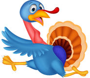 Cartoon turkey running Royalty Free Stock Photography