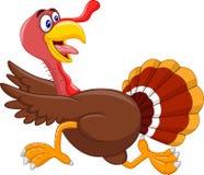 Cartoon turkey running Stock Photo
