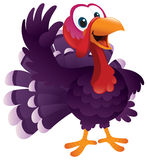 Cartoon Turkey Waving Stock Photography
