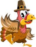Cartoon turkey waving isolated Stock Photo