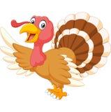 Cartoon turkey waving isolated on white background Royalty Free Stock Image