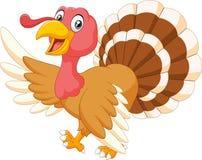 Cartoon turkey waving isolated on white background Stock Photos